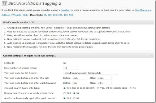 SEO SearchTerms Tagging