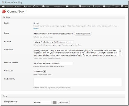 coming soon wordpress plugin