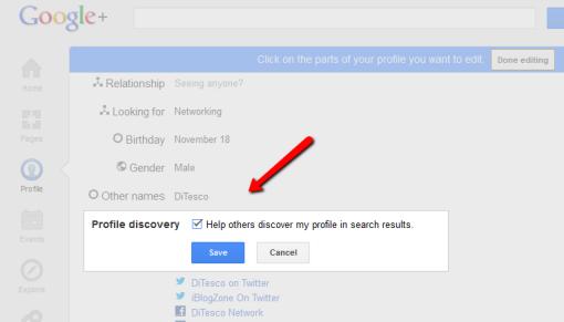 profile discovery