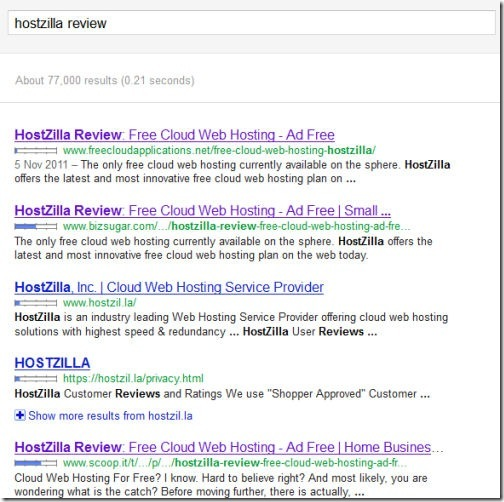 Google Hostzilla Review