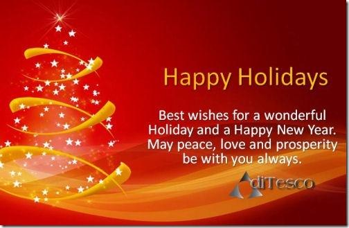 Happy Holidays DiTesco