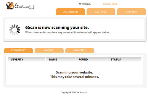 6Scan Security WordPress Plugin