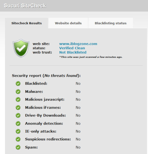 Securi Malware Site Checker