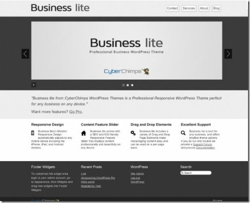Business Lite Responsive Theme