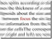 focus on blogging