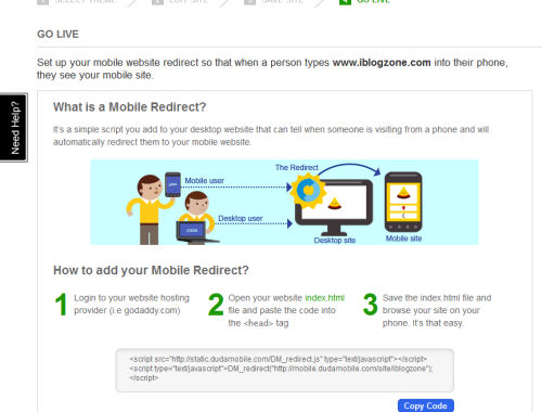 Mobile redirect