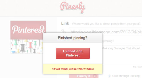 finished pinning on pinterest