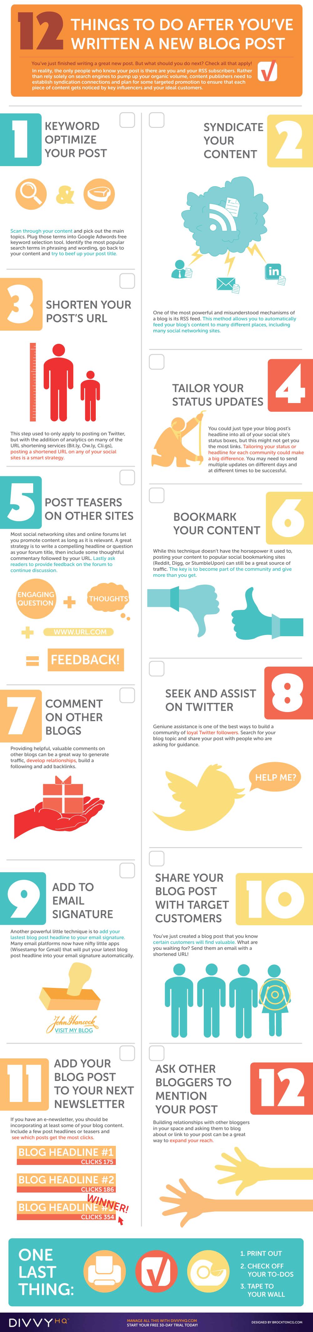 blog post promotion checklist