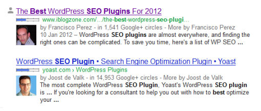 Authorship and Rich Snippets