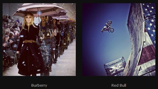 Burberry Red Bull Instagram