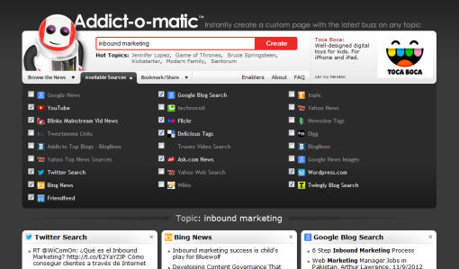 addict-o-matic search