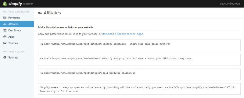 Shopify Affiliate Dashboard