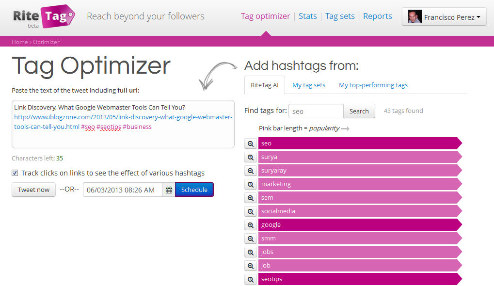 Hashtag Optimizer By RiteTag