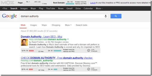 domain authority search