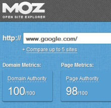 google domain authority