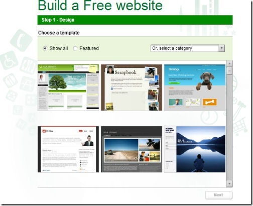 website builder step 1