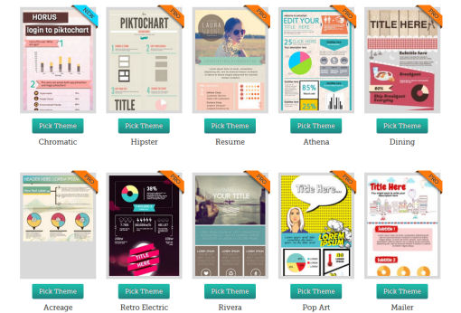 piktochart infographic themes