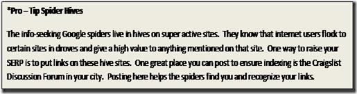 Spider tip