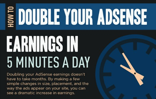 How To Double Your AdSense Earnings With A Few Changes [infographic]