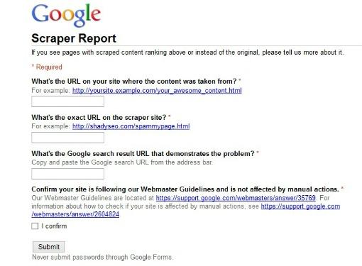 scraper report