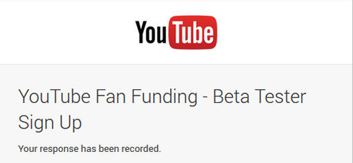 YouTube Fan Funding
