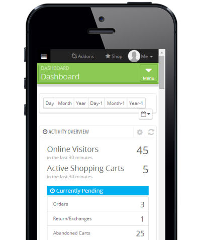 PrestaShop Backend Smartphone