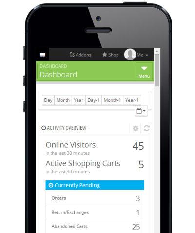 PrestaShop Backend Smartphone