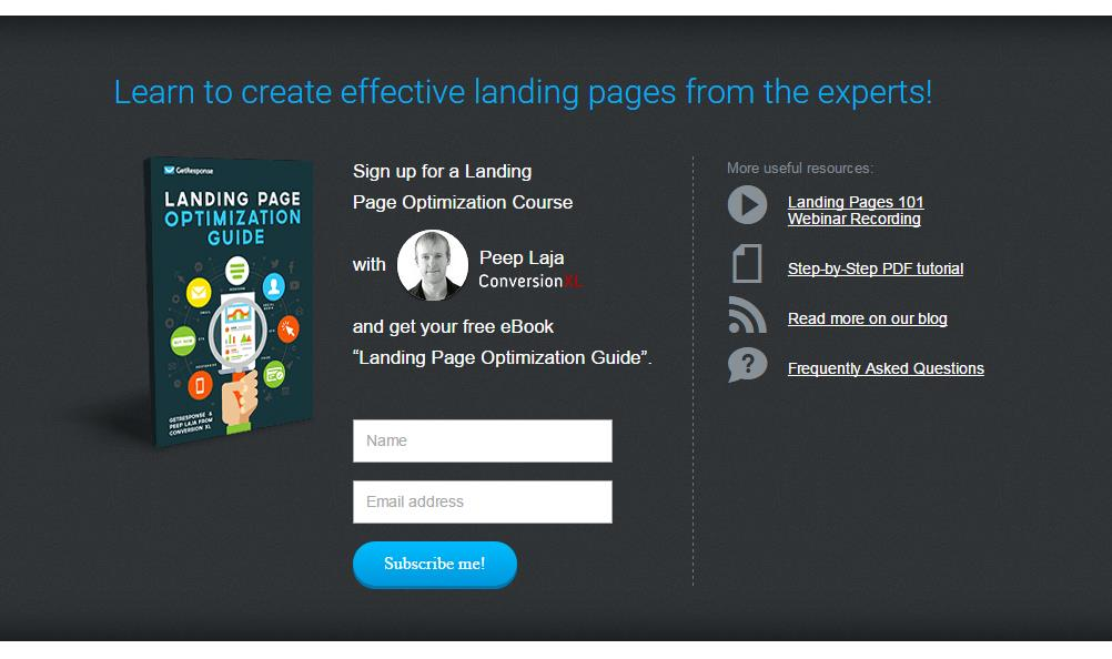 Landing Page Creator by GetResponse
