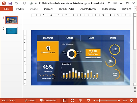 Dashboard template for PowerPoint