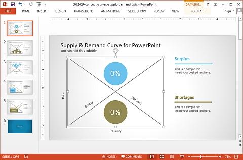 Slide Model demand and supply diagram