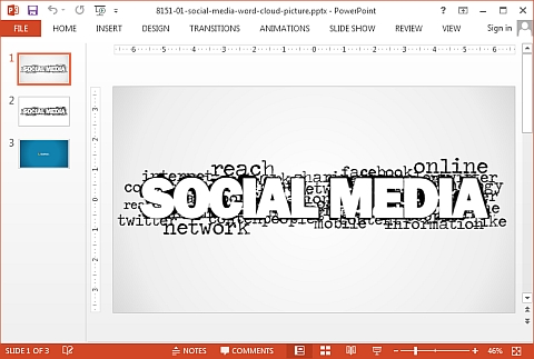 Social media slide picture for PowerPoint