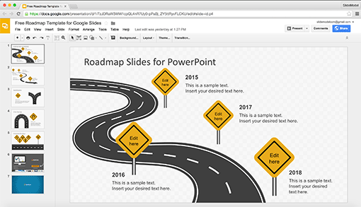 SlideModel Professional PowerPoint Templates for Business Decks – Free Roadmap Templates