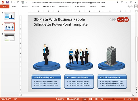 Business people PowerPoint template