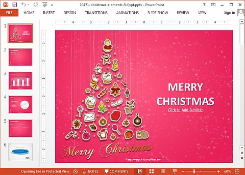 Christmas elements template for PowerPoint