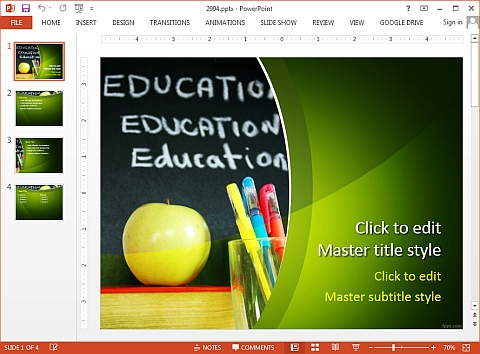 Free educational PowerPoint template