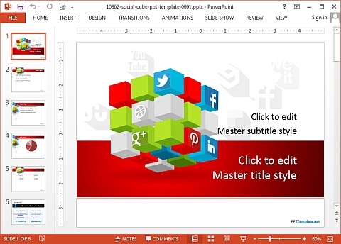 Free social media PowerPoint template