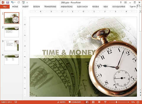 Time and money PowerPoint template