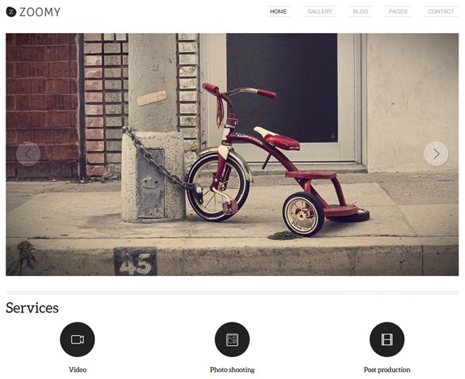 Zoomy WordPress Theme