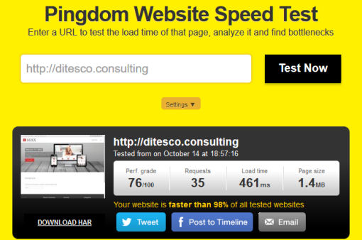 ditesco consulting speed test