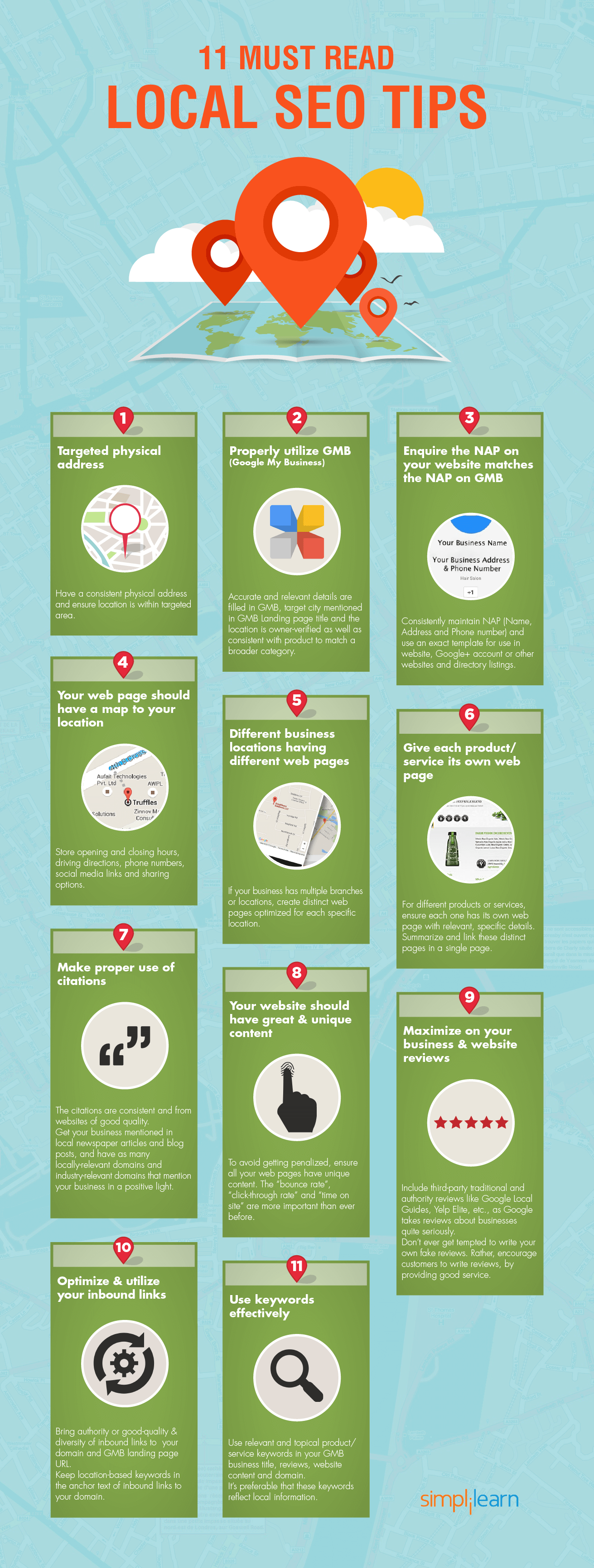 local seo tips infographic 2016