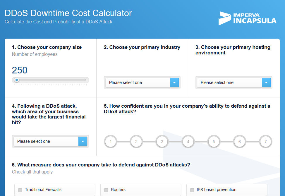 ddos downtime cost calculator