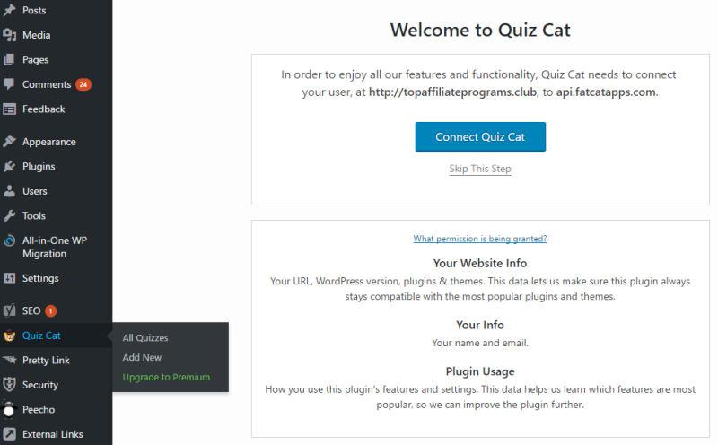 Quiz Cat Install