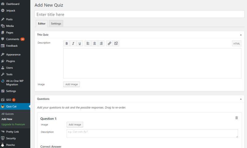adding a new quiz