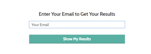 email capture quiz