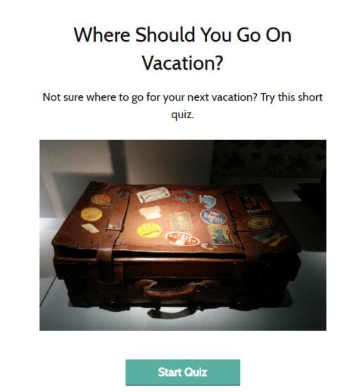 vacation Quiz
