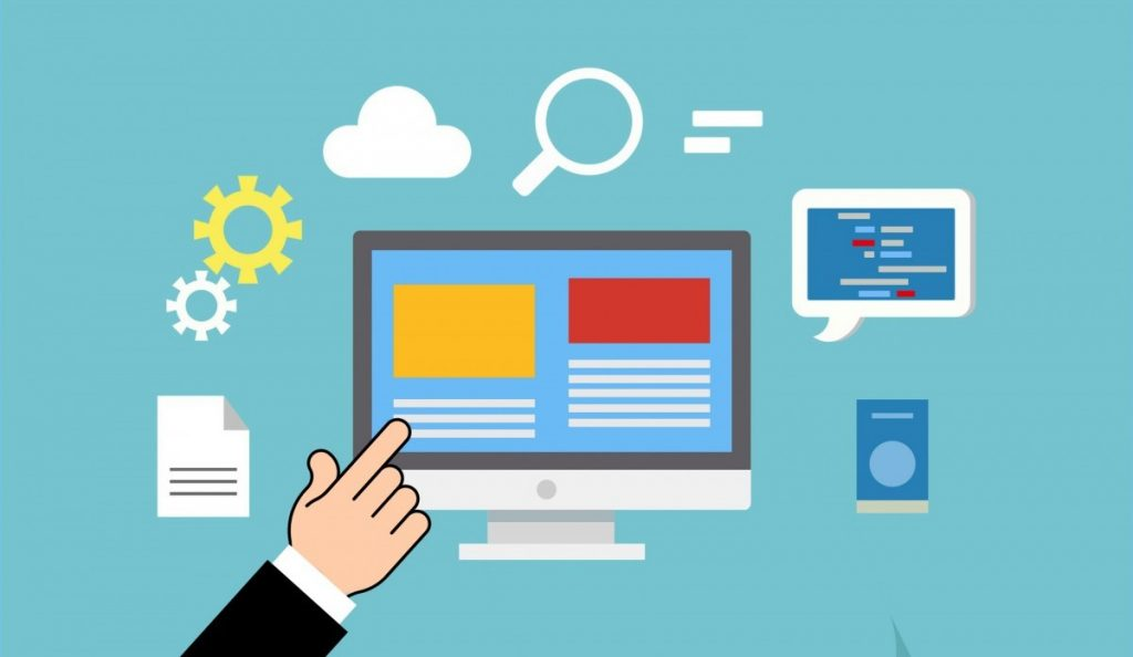 web domain service website development seo access backup data database e commerce hosting html http marketing programming provider resource server storage support system tech technology www illustration sharing electronic device business learning graphic design job